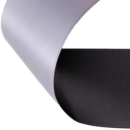 2'' Satin Reversible Ribbon Black/White