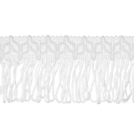 2'' Sharlene Loop Chainette Fringe White
