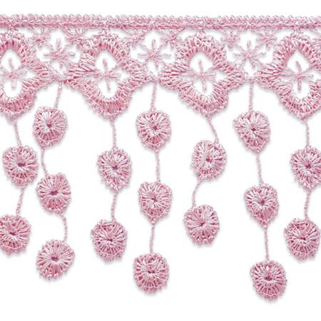 3-1/4'' Abigail Victorian Lace Fringe Trim Mauve