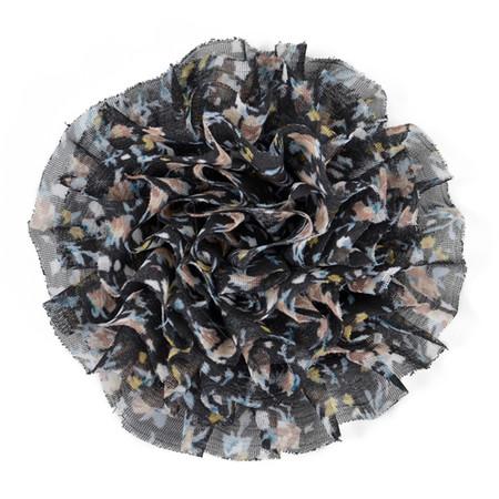 3-1/4'' Large Prairie Flower Applique Black