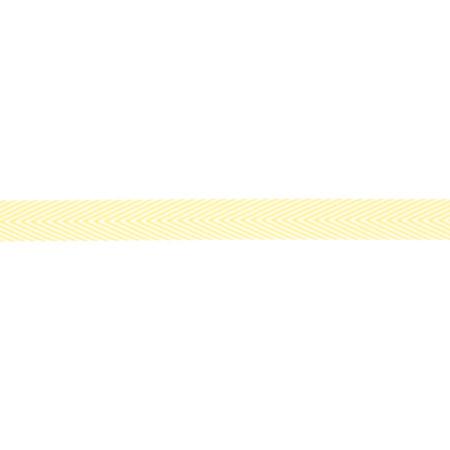 3/4'' Twill Tape Chevron Stripes Yellow