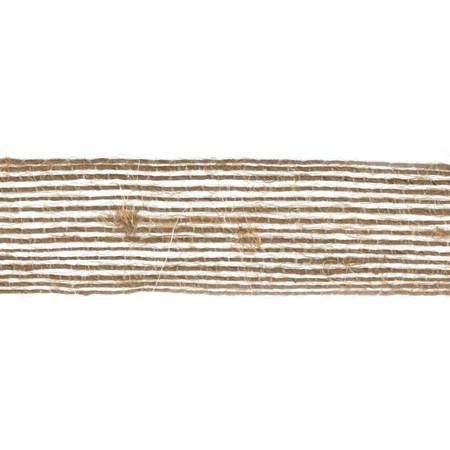 3/4'' Woven Burlap Webbing Ribbon Natural Fabric