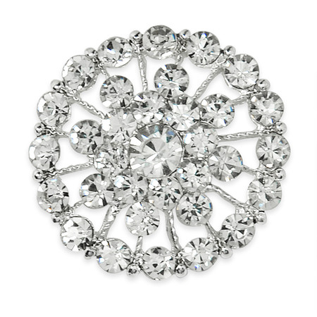 3.7cm Glass Rhinestone Button