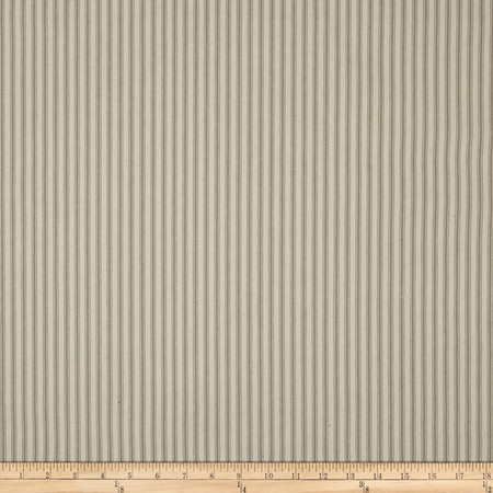 44'' Ticking Stripe Khaki Fabric