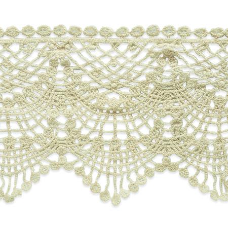 4 1/2'' Cece Cotton Lace Trim Natural