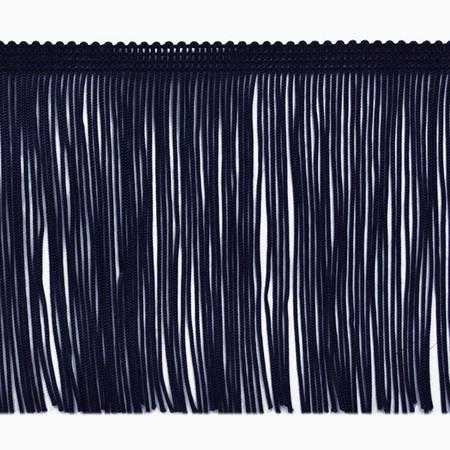 4'' Chainette Fringe Trim Navy Blue