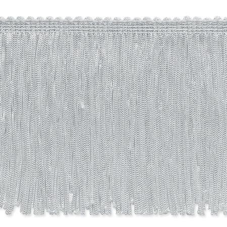 4'' Stretch Chainette Fringe Trim White