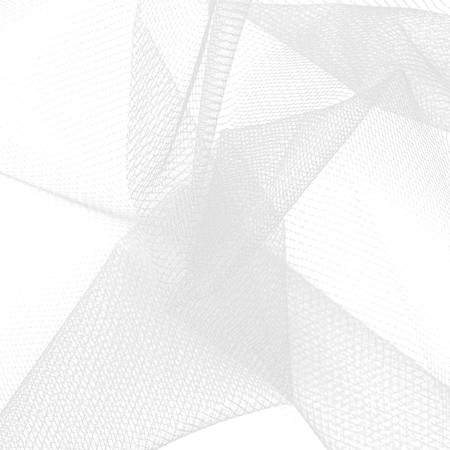54'' Diamond Net White Fabric By The Yard