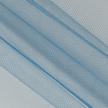 54'' Wide Nylon Tulle Antique Blue Fabric
