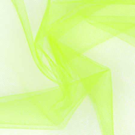54'' Wide Nylon Tulle Neon Yellow Fabric By The Yard