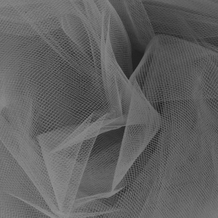 54'' Wide Tulle Charcoal Fabric By The Yard