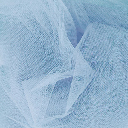 54'' Wide Tulle Cotillion Blue Fabric By The Yard