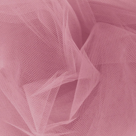54'' Wide Tulle Dusty Rose Fabric By The Yard