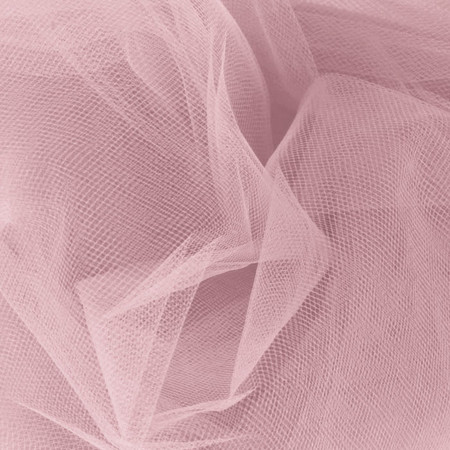 54'' Wide Tulle Rosette Fabric By The Yard