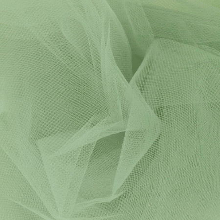 54'' Wide Tulle Sage Fabric By The Yard