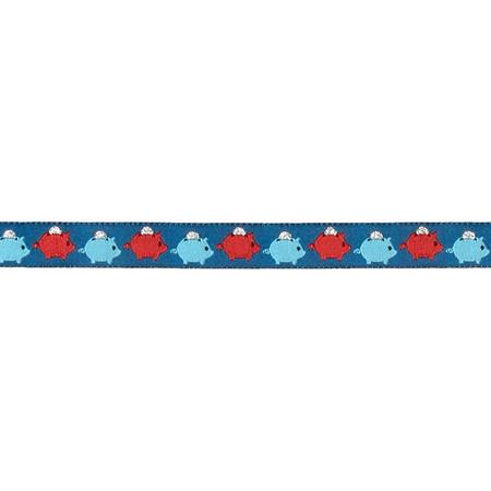 5/8'' Piggy Bank Ribbon Blue