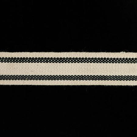 5/8'' Woven Ribbon Stripes  Black