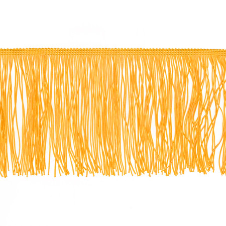 6'' Chainette Fringe Trim Yellow Gold