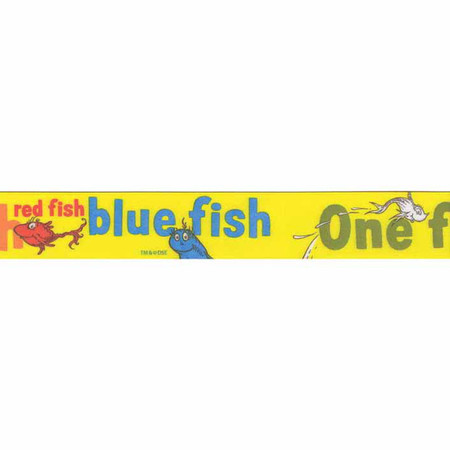 7/8'' Dr. Seuss One Fish Two Fish Ribbon Yellow