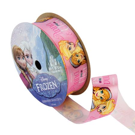 7/8'' Frozen Ribbon Anna & Elsa Pink 3YD Spool