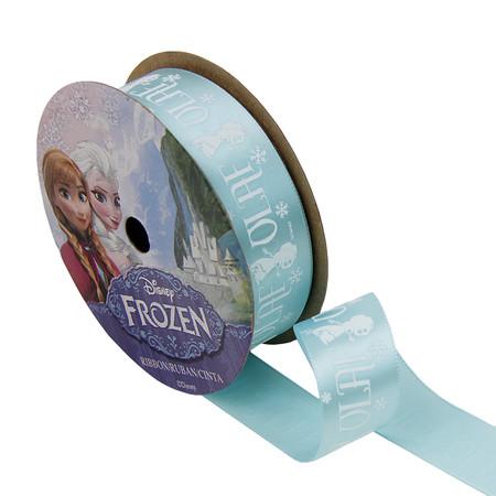 7/8'' Frozen Ribbon Olaf Silhouette Blue 3YD Spool