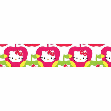 7/8'' Hello Kitty Apple Ribbon Pink