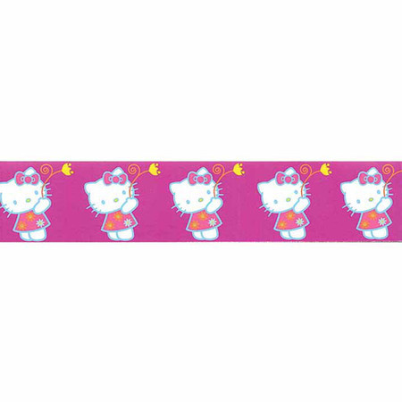 7/8'' Hello Kitty Flower Ribbon Purple