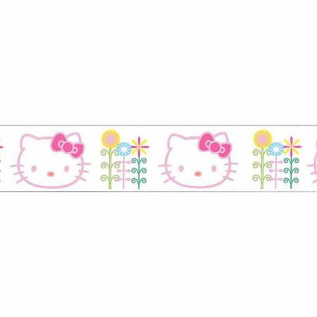 7/8'' Hello Kitty Flowers Ribbon White