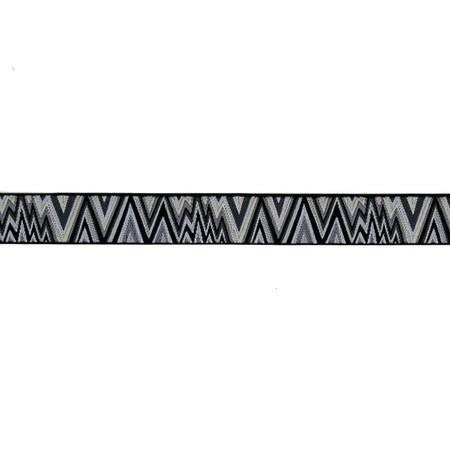 7/8'' Kaffe Fasset Flame Stitch Ribbon Black/White