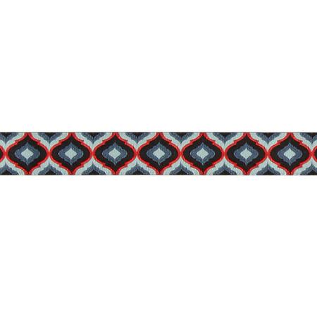 7/8'' Tula Pink Midnight Lantern Blue/Red Ribbon Black