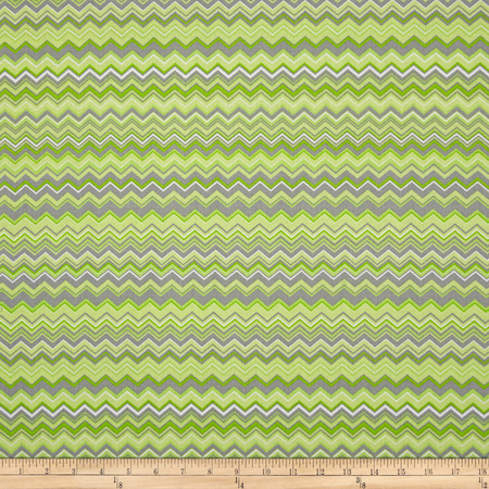 A.E. Nathan Chevron Green/Grey/White Fabric