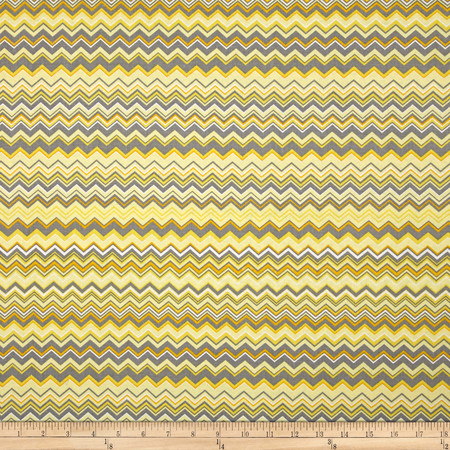 A.E. Nathan Chevron Yellow/Grey/White Fabric