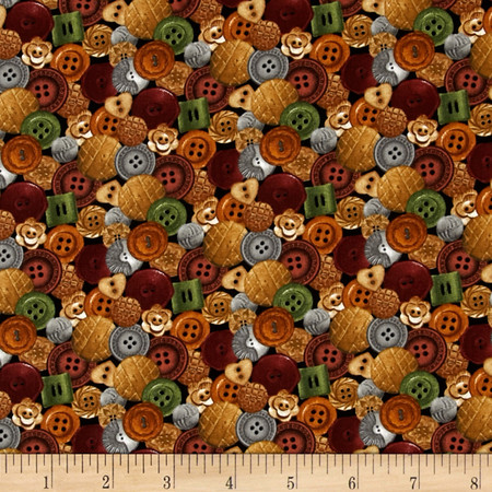 A Stitch In Time Buttons Multi Fabric