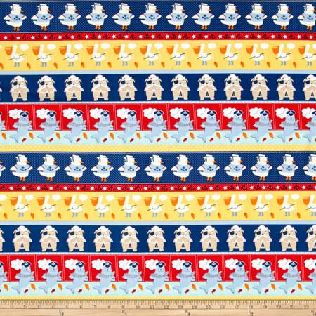 Ahoy Matey Novelty Stripe Multi Fabric By The Yard