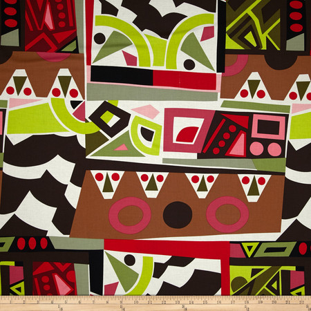 Alexander Henry Africa Kali Geo Red Fabric