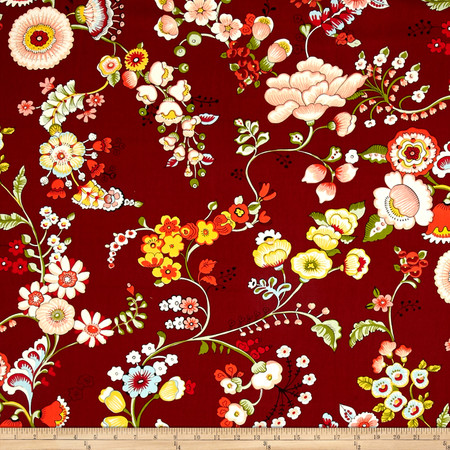 Alexander Henry Bella Strada Speranza Brick Red Fabric