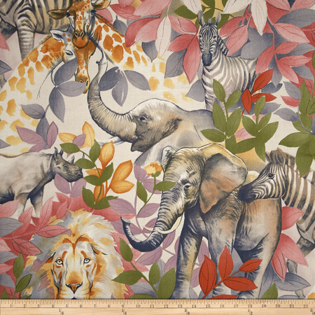 Alexander Henry Exotica Kendi Safari Soft Indigo Fabric