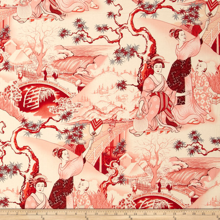 Alexander Henry Indochine Four Seasons Red Fabric