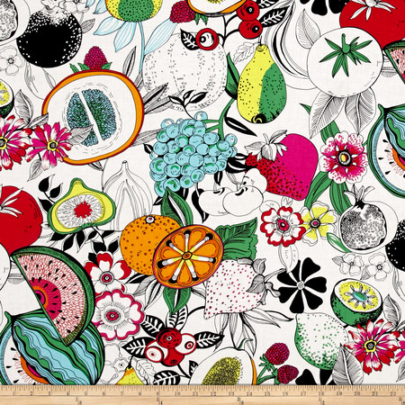 Alexander Henry June Bug Tropical Punch Natural Fabric By The Yard