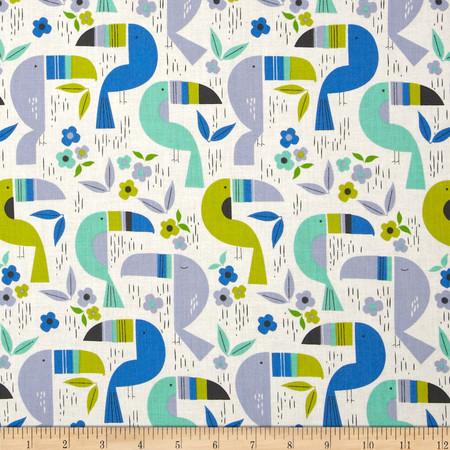 Alexander Henry Monkey's Bizness Toucan Zoo Pool Fabric