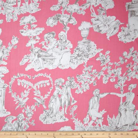 Alexander Henry Nicole's Prints The Romantics Pink Grey Fabric