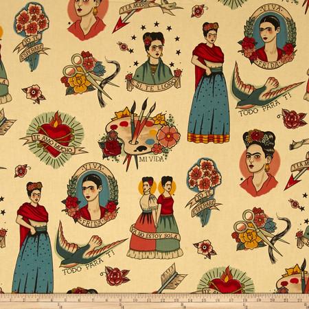 Alexander Henry Nicole's Prints Todo Para Ti Taupe Fabric