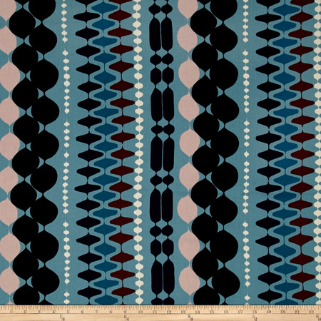 Alexander Henry The Ghastlies Bead Freezing Blue Fabric By The Yard