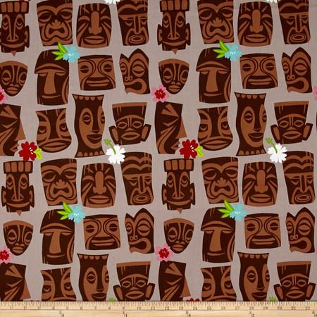 Alexander Henry Tiki Dreams Tahiti Tiki Burlap Fabric