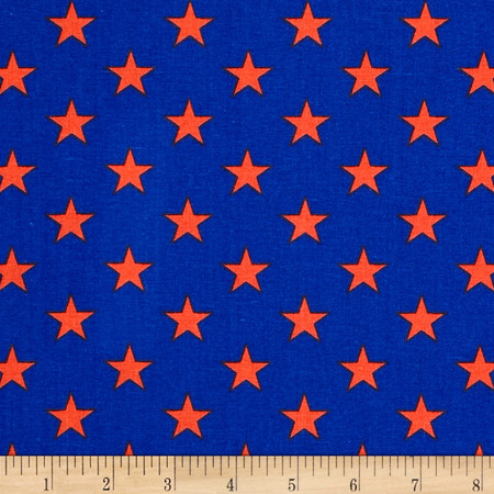 All Stars Royal/Orange Fabric