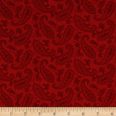 Always The Season Paisley Red Fabric By The Yard