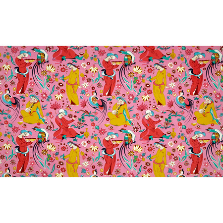 Amy Butler Eternal Sunshine Home Decor Sateen Midday Social Rose Fabric By The Yard