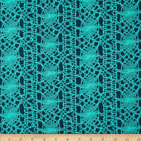 Amy Butler True Colors Stocking Turquoise Fabric