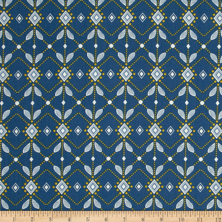 Anna Maria Horner Folk Song Diamond Mine Ink Fabric By The Yard