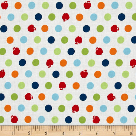Apple Hill Farm Apple Dots White Fabric